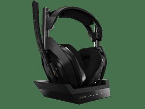 A50 | Kabelloses Headset + Basisstation | Schwarz Gold