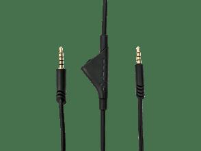 Câble A10 avec commandes volume 2,0 m | Le câble de contrôle du volume A10 vous permet d'ajuster l'expérience sonore facilement et rapidement grâce à la molette de réglage du volume sur le cordon. Long de 2m, il assure une connexion parfaite entre votre casque ASTRO et votre PC ou console (Xbox One/PS4) via une prise jack 3,5mm. Ce câble est fourni avec le casque A10.