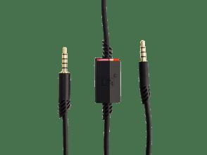 Câble A40 de 2,0m avec sourdine intégrée | <p>Ce câble de 200cm sert à gérer les communications sortantes du casque A40. Il est inclut avec tous les systèmes audios A40.<br /> <br /> Le cable se termine de deux façons, par 4 trous ou 5 trous. La connexion via les 5 trous va vers le casque, et la 4 trous va vers le MixAmp™ Pro ou le Splitter PC.</p>